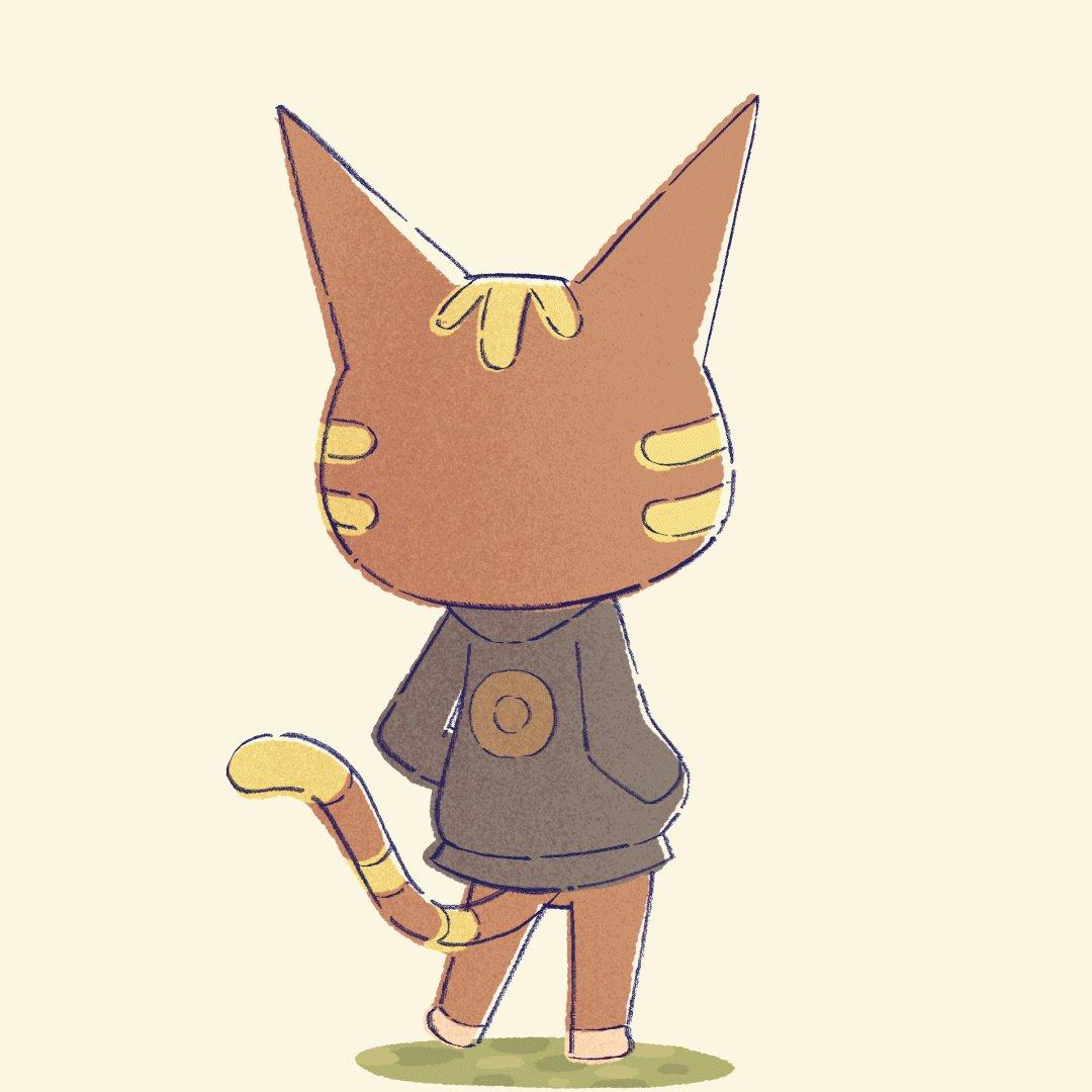 Replying to @youkaishain: me and @mookietamara animated our favorite cat villager, katt! 😸🌟 purrty! #ACNH #AnimalCrossing