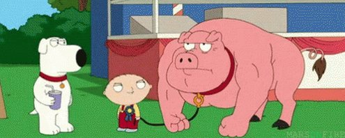 @AlexTBarth He's like the aggro pig from family guy.