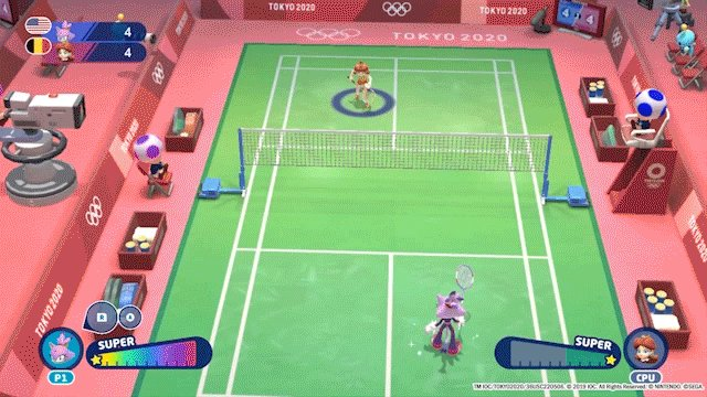 Winning a gold medal: gladminton.  Coming in last: sadminton.  Badminton is just one of the dozens of events to play in Mario & Sonic at the Olympic Games Tokyo 2020, available now for $20 off!  So grab your racket and swat your way to the podium!