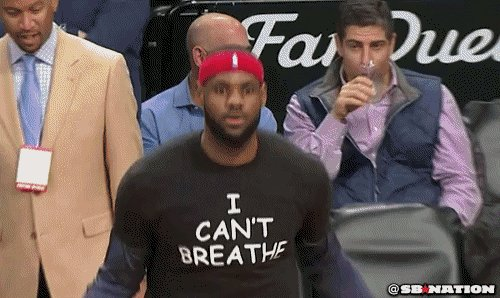 i cant breathe lebron james GIF by SB Nation