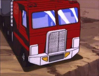 Optimus Prime Trucker GIF