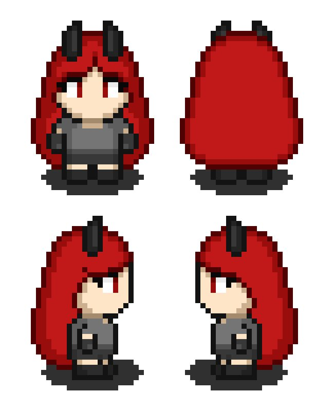 Almost forgot to post this. Here's something i ddi for @KarmaTheDemon  Make sure to support their art. Program used  @aseprite  #art #artist #pixelart #pixel #cute #game #animation #aseprite #oc