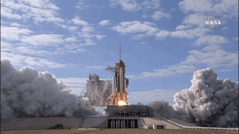 space rocket GIF