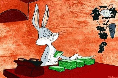 Bugs Bunny Money GIF