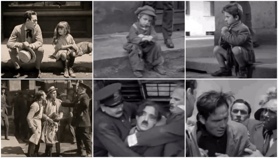 Poverty   From Hand To Mouth/The Kid/Bicycle Thieves  #sidebyside #sidebysidebyside #haroldlloyd #charliechaplin #movies #cinema #film #poverty #VittorioDeSica #silentfilm #silentmoviespic.twitter.com/AfgUmPd00R
