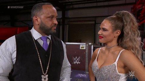 👀 Bound to happen eventually. #WWERaw @LanaWWE @The305MVP
