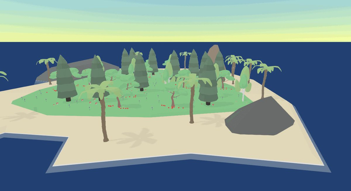 The game is really starting to feel alive, with a fresh island and some creativity you can start to build some really beautiful scenes! So happy <3  #lowpoly #gamedev #indiegame #indiedev #indiegamedev #3d #game #developer #madewithunity #art #island #animals #eco #gameartpic.twitter.com/y9OhD4oxqf