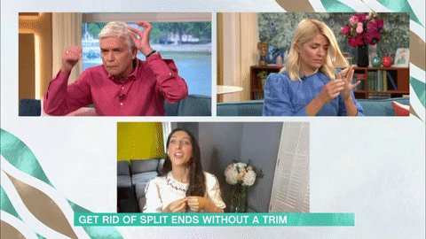 Have you got split ends? Well @SarahJossel is here to show you how to get rid of them, without even needing a trim! 🙌  https://t.co/9o1NNm81Qs https://t.co/guMAjcZCpr