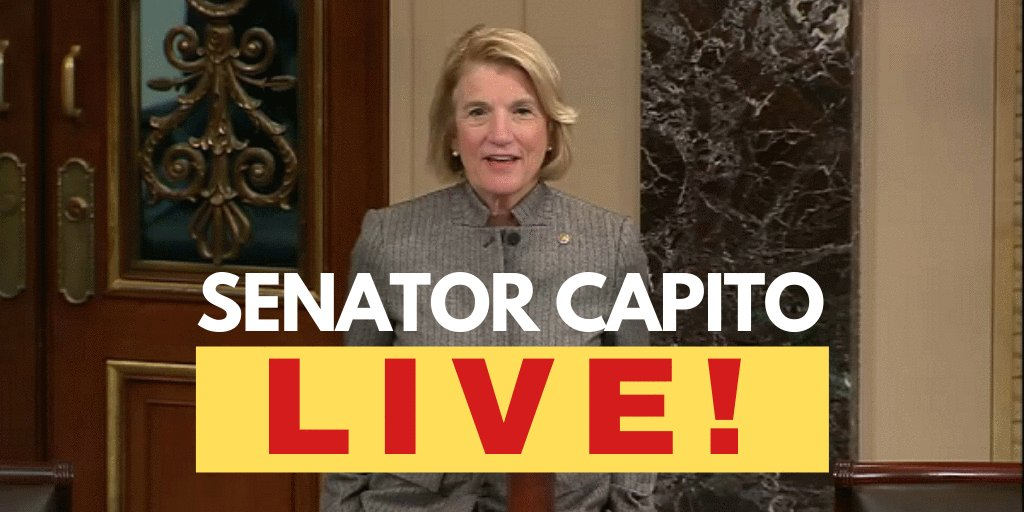 TUNE IN: I'll be speaking on the @SenateFloor around 1:55 p.m. today. Watch live here: bit.ly/2MpjFYG