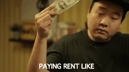 Paying Rent Like GIF