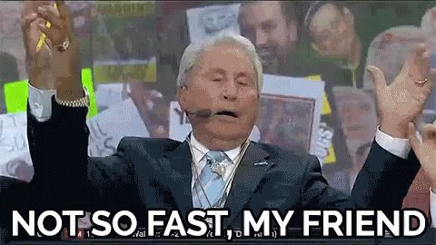 Lee Corso Not So Fast GIF
