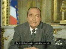 Jacques Chirac Dissoudre Assemblée Nationale GIF