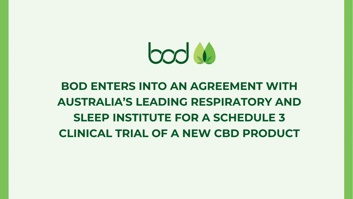 Image for the Tweet beginning: Bod Australia has entered into