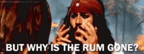 But Why Is The Rum Gone? GIF