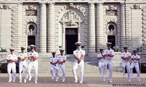Navy Men Dancing GIF