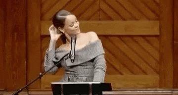 Rihanna Hair Flip GIF