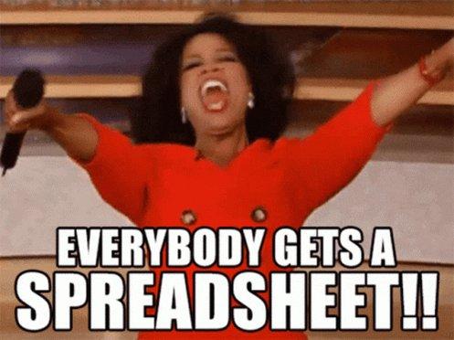 Spreadsheet Everybody Gets ASpreadsheet GIF
