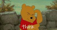 Think Pooh GIF