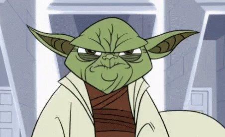 Yoda, Amenazante, Se Prepara Para Usar La Fuerza GIF