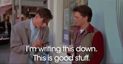 Back To The Future Taking Notes GIF