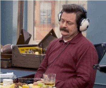 Ron Swanson Listening GIF