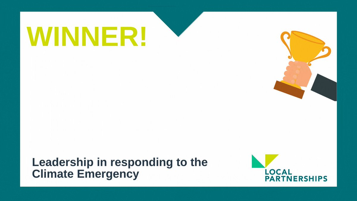 And the winner is…  @CornwallCouncil!   Congratulations, our winners of the Leadership in Responding to the Climate Emergency award #MJAwards 2021! 🌍🏆