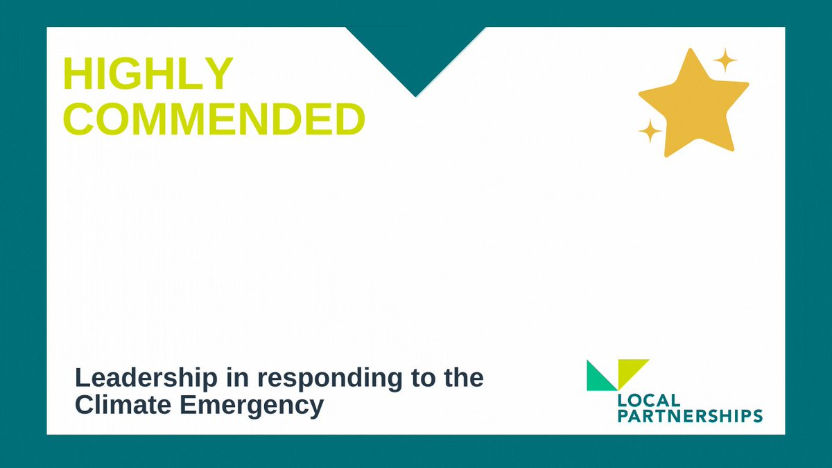 Congratulations also to @LBofHounslow, highly commended for our Leadership in Responding to the Climate Emergency award #MJAwards. 👏🌍