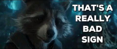 not good rocket raccoon GIF