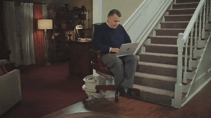 America chipped in and got you a stair lift. https://t.co/NBsRRDlhE7