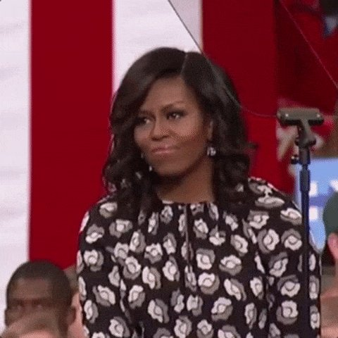 happy michelle obama GIF by...