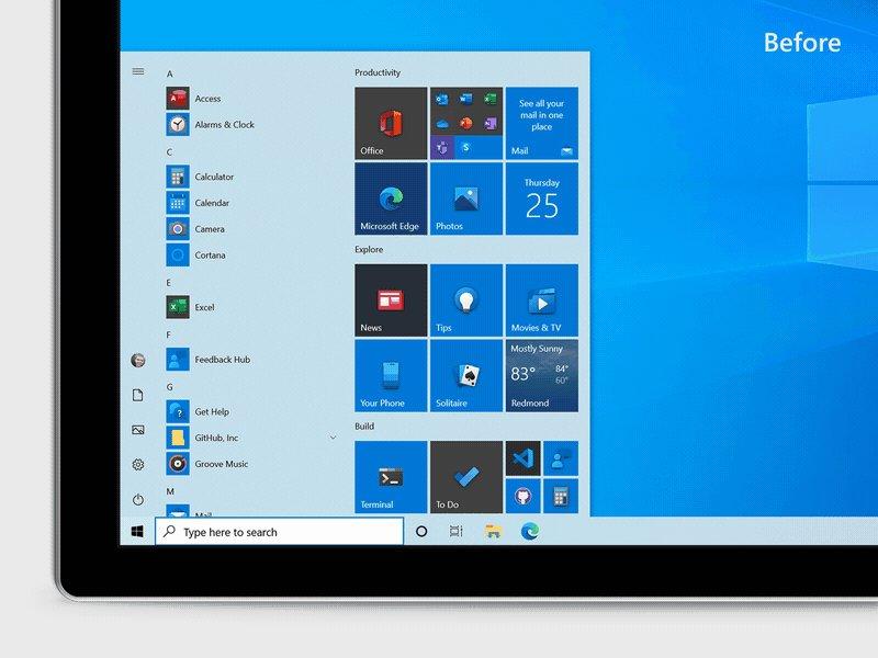 Microsoft announces new Windows 10 Start menu design and updated Alt-Tab