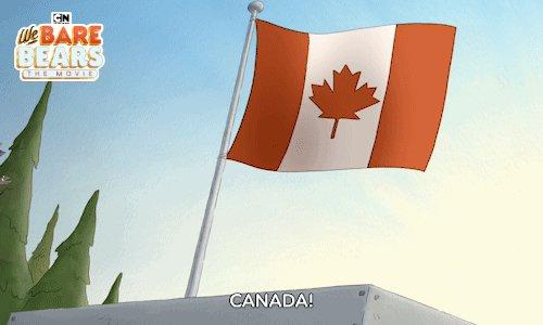Canada, sweet land of poutine, maple syrup, and lumber. We salute thee 🇨🇦 #HappyCanadaDay #webarebears #webarebearsmovie #canada
