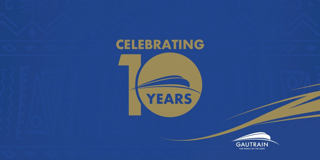 We hold ourselves to the highest standards, which is why we strive to always do better to serve your needs.   Here's to being even more punctual, having more seats available and delivering an even better travel experience to our passengers! #10YearsofGautrain https://t.co/p0bOqkIV6t