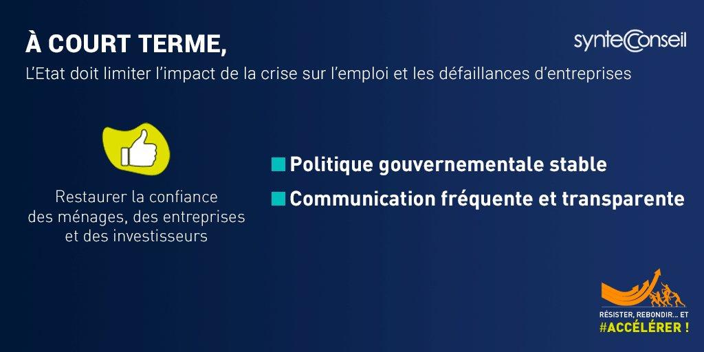 Image for the Tweet beginning: [↗️#Accélérer] A court terme, l'Etat
