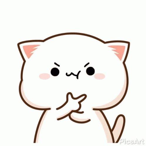 Peach Cat Irritated GIF