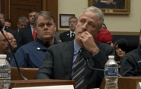 Jon Stewart Hearing GIF by GIPHY News