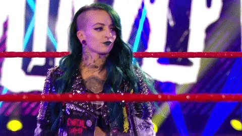 RT @WWEUniverse: Game face firmly ON.  #WWERaw @RubyRiottWWE https://t.co/y3FrkFrXsW