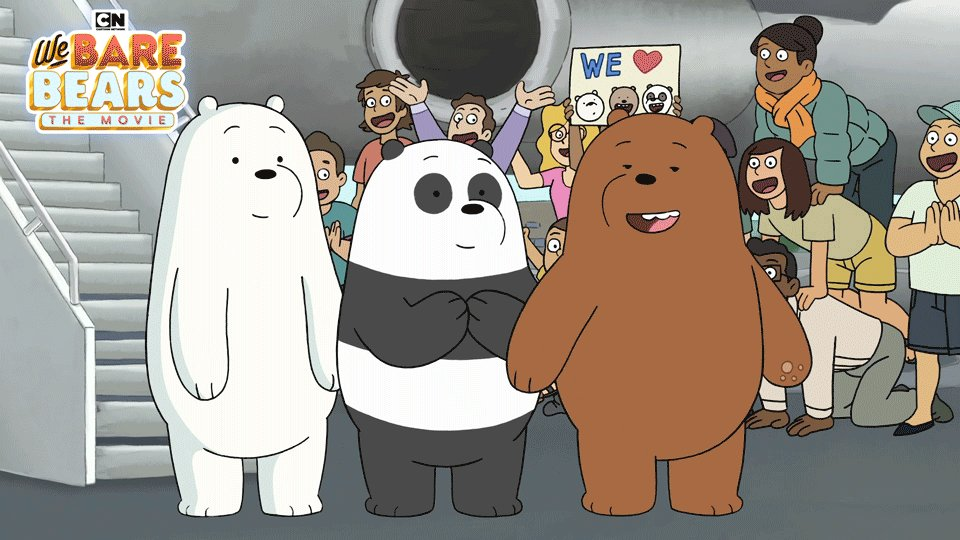 Ice Bear logging off. Ice Bear grateful for fans.   #CNWatchParty #WeBareBearsMovie