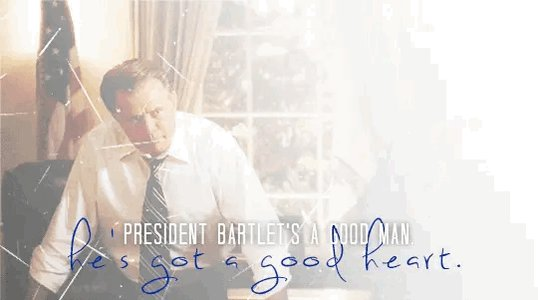 6th Place: Jed Bartlet (54 Votes)