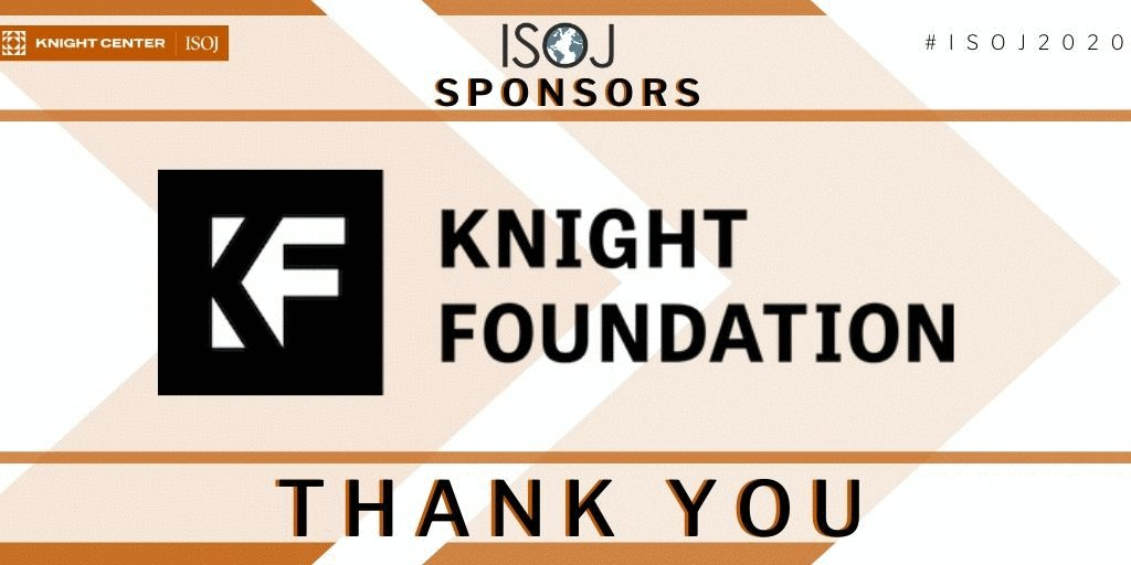 Image for the Tweet beginning: ISOJ Online thanks @knightfdn for