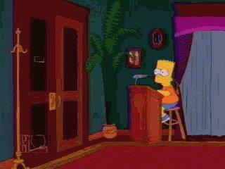 Simpsons Walkinandout GIF