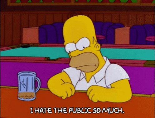 Homer Simpson Hate GIF