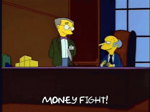 Smithers Money Fight GIF