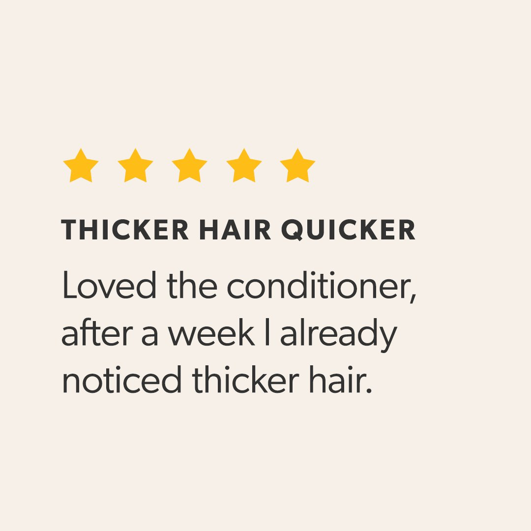 """Thicker hair quicker """"Loved the conditioner, after a week I already noticed thicker hair.""""  -about our 100% #Natural #HairGrowth Support #Conditioner  Shop now at   #naturalhair #healthyhair #naturalhairgrowth #hairloss #beauty #crueltyfree #alopecia"""