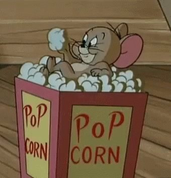 Eating Popcorn Movie Time GIF