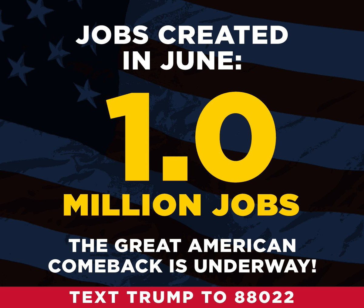 Image for the Tweet beginning: President Trump's America First economic