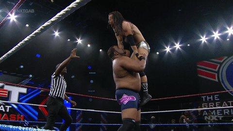 Not even breaking a sweat. #WWENXT #NXTGAB @RealKeithLee @AdamColePro https://t.co/rwvdvsuyUC