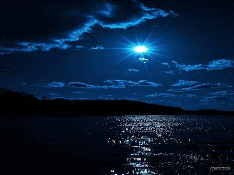 Гифка ночного моря
