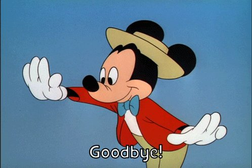 Bye Bye Goodbye GIF by Mickey Mouse