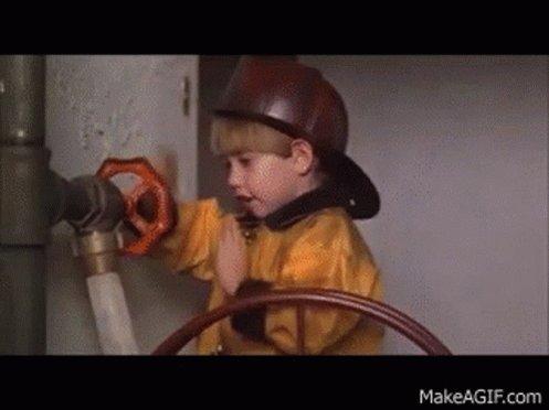 Little Rascals Firefighter GIF